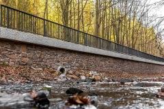 Ersatzneubau Stützwand mit Natursteinverblendung - Gemeinde Striegistal